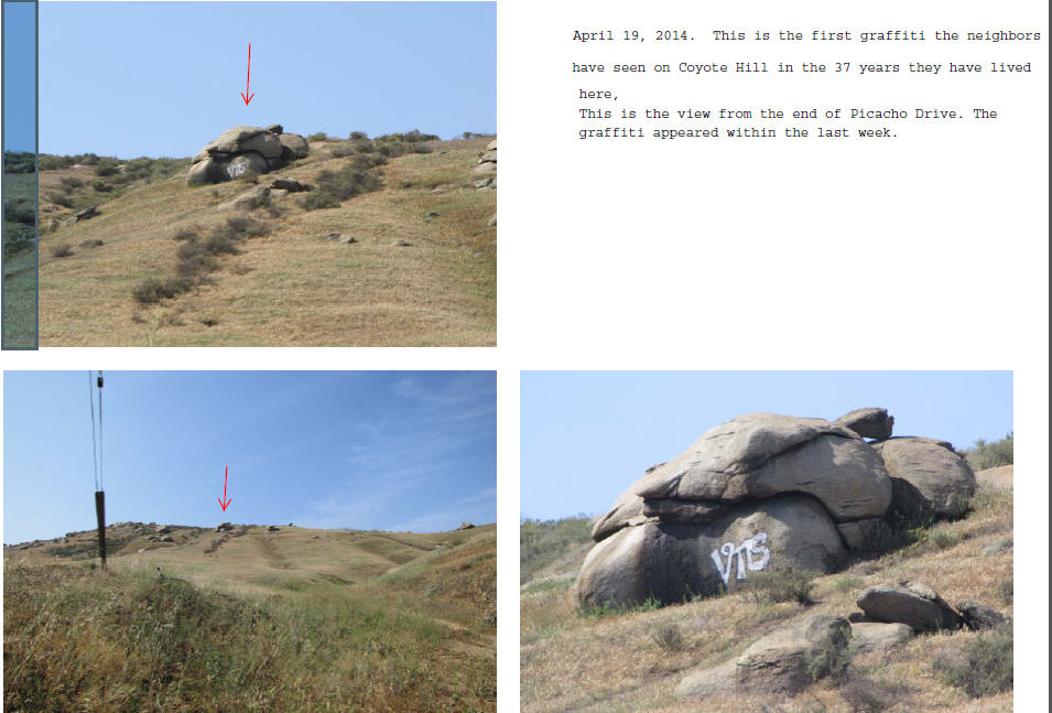 1st Graffitti On Coyote Hill in 37 years