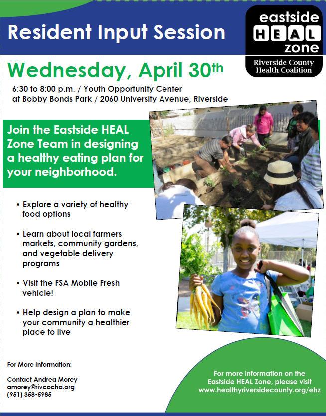 Heal Zone Neighborhood Healthy Eating Plan