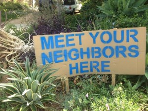 Meet Your Neighbors Sign
