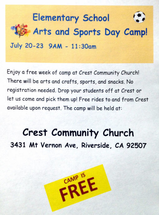 Elementary Day Camp Flyer