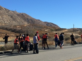 UCR Students Picking Up Trash On Watkins Drive