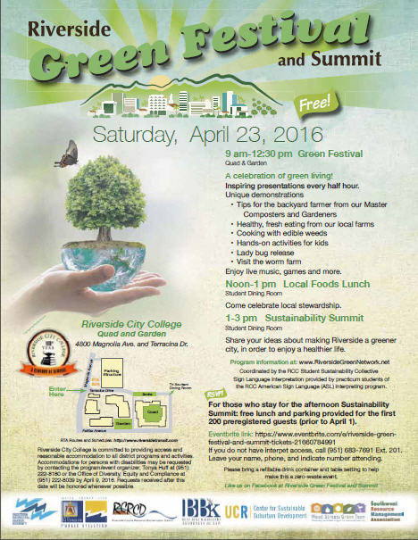 Riverside GreenFest & Summit 2016