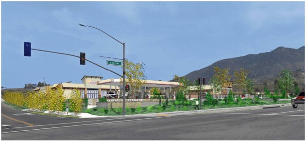Central Sycamore Gas Station Proposal Artist Rendering