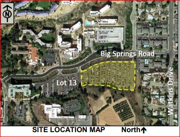 Site Map UCR Lot 13 Parking Garage Project