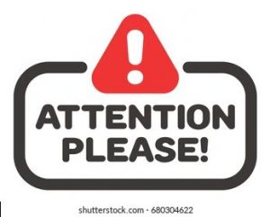 Attention Please Sign